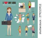 set of businesswoman character... | Shutterstock .eps vector #279215912