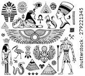 set of vector isolated egypt... | Shutterstock .eps vector #279221345