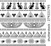 vector tribal ethnic seamless... | Shutterstock .eps vector #279221795