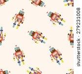 robot   cartoon seamless...   Shutterstock .eps vector #279231008