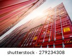 cargo containers at harbor ... | Shutterstock . vector #279234308