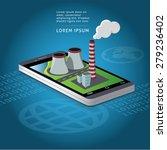 smart phone factory map... | Shutterstock .eps vector #279236402
