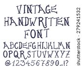 hand drawn decorative vintage... | Shutterstock .eps vector #279241532