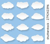 messages in the form of clouds. ... | Shutterstock .eps vector #279242396