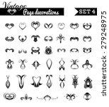vector set 4. vintage page... | Shutterstock .eps vector #279248975