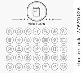 web outline icons with circle... | Shutterstock .eps vector #279249026