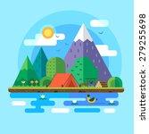 morning landscape in the... | Shutterstock .eps vector #279255698