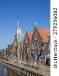 church and old houses in the... | Shutterstock . vector #279256082
