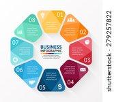 vector circle infographic.... | Shutterstock .eps vector #279257822