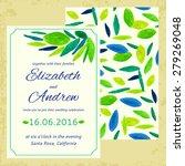 vector wedding invitation....   Shutterstock .eps vector #279269048