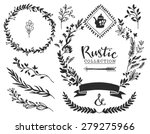 rustic decorative elements with ... | Shutterstock .eps vector #279275966
