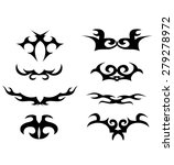 tribal tattoo vector design...   Shutterstock .eps vector #279278972