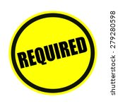 required black stamp text on... | Shutterstock . vector #279280598