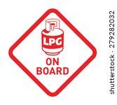 caution liquefied petroleum gas ... | Shutterstock .eps vector #279282032