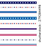 4th of july page divider   line ... | Shutterstock . vector #279284498