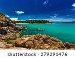 rocks and cliffs over the ocean ... | Shutterstock . vector #279291476