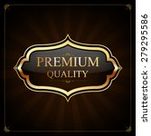 label with gold elements vector ... | Shutterstock .eps vector #279295586