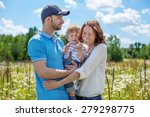 young attractive parents and... | Shutterstock . vector #279298775