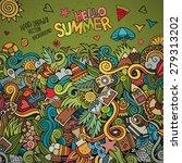 doodles abstract decorative... | Shutterstock .eps vector #279313202