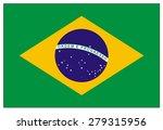 brazil flag | Shutterstock .eps vector #279315956