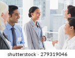 happy work team during break... | Shutterstock . vector #279319046