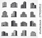 vector town and building icon... | Shutterstock .eps vector #279324512