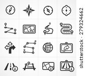 vector map and navigation icon... | Shutterstock .eps vector #279324662