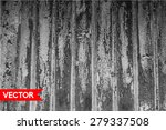 vector old wooden fence with... | Shutterstock .eps vector #279337508