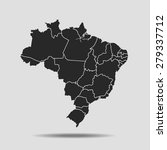 map of brazil | Shutterstock .eps vector #279337712