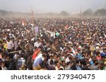 Small photo of Trinamool Congress activist, member and follower gather from all over West Bengal gather at Brigade Parade ground on occasion of rally led by Mamata Banerjee on January 30, 2014 in Calcutta, India.