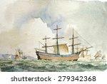 Tall Ship Shipping  Marine...