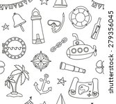 seamless nautical pattern.... | Shutterstock .eps vector #279356045