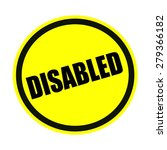 Disabled Black Stamp Text On...
