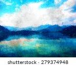 mountain view  landscape oil... | Shutterstock . vector #279374948