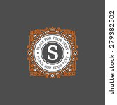 simple and elegant monogram...   Shutterstock .eps vector #279382502