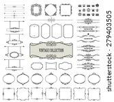 vintage frames  dividers ... | Shutterstock .eps vector #279403505