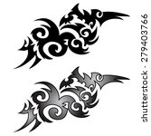 tattoo graphics on a white... | Shutterstock .eps vector #279403766