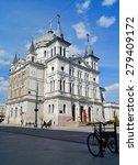 Small photo of LODZ, POLAND - MAY 03, 2015:Sunday afternoon on Piotrkowska Street - Church of Pentecost
