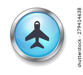 airplane button | Shutterstock .eps vector #279414638