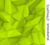 green abstract low poly ... | Shutterstock .eps vector #279416972
