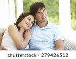 couple sitting outside together | Shutterstock . vector #279426512