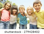 group of smiling children... | Shutterstock . vector #279428402