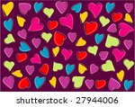 love abstract design background | Shutterstock .eps vector #27944006
