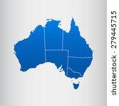 map of australia | Shutterstock .eps vector #279445715