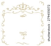 ornate cartouche and scroll... | Shutterstock .eps vector #279455072