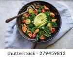 Kale  Roasted Yams And Avocado...