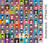 collection of avatars17   81... | Shutterstock .eps vector #279466742