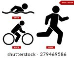 Triathlon Marathon Active Icon...