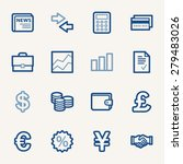 finance web icons set | Shutterstock .eps vector #279483026