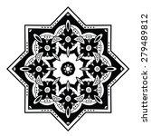 round ornament. ethnic mandala. ... | Shutterstock .eps vector #279489812
